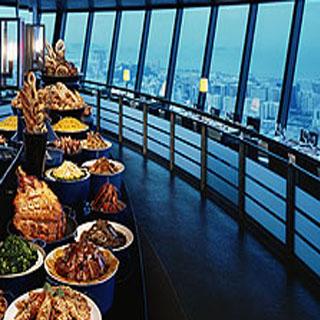 澳門旅遊觀光塔門票入場劵套票 macau tower 360 buffet package 預訂澳門旅遊觀光塔 360 café 旋轉餐廳美食自助餐優惠