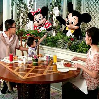 香港迪士尼樂園好萊塢酒店門連翠樂庭餐廳自助早餐優惠套票 hong kong disneyland tickets enchanted garden restaurant breakfast buffet package